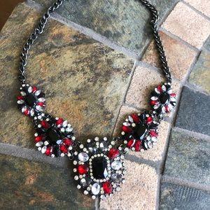 Jewelry - Black White Red Gunmetal Necklace